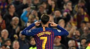 Une soirée difficile pour Coutinho. AFP