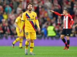 Puyol fala sobre Messi. AFP