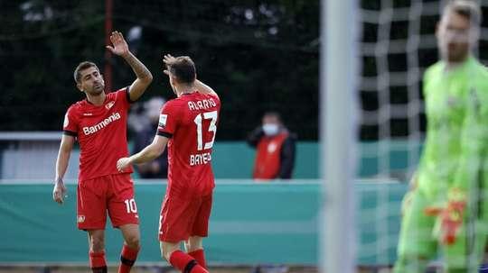 Leverkusen avanço para a final da Copa da Alemanha. AFP