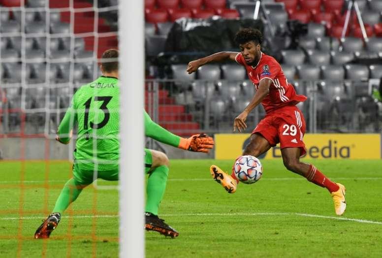 Flick challenges Coman to bring Champions League form to Bundesliga. AFP