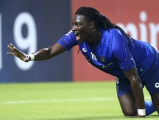 Al Hilal forward Bafetimbi Gomis scored at both ends as his side hammered Al Sadd. AFP