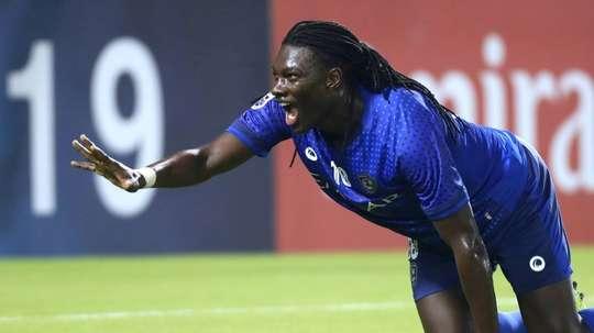 Al Hilal forward Bafetimbi Gomis scored at both ends as his side hammered Al Sadd. AFP