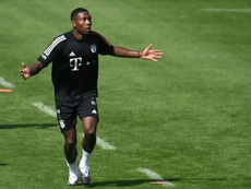 David Alaba's future has led to a war of words among the Bayern board. AFP