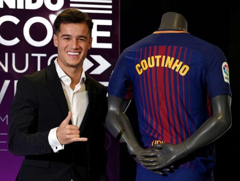 Voici les détails du recrutement de Coutinho. AFP