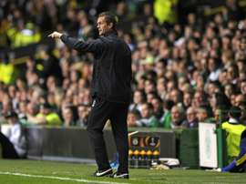 Celtics manager Ronny Deila, seen during an UEFA Europa League match at Celtic Park in Glasgow, on October 1, 2015