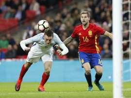 Vardy ne jouera plus avec l'Angleterre. AFP