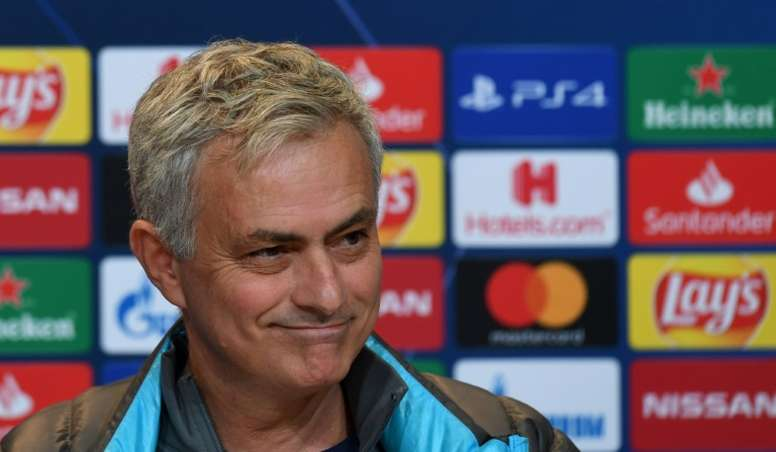 Mourinho wasn't happy with the decision. AFP