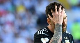 Messi se peleó en una Copa América con Burdisso. EFE
