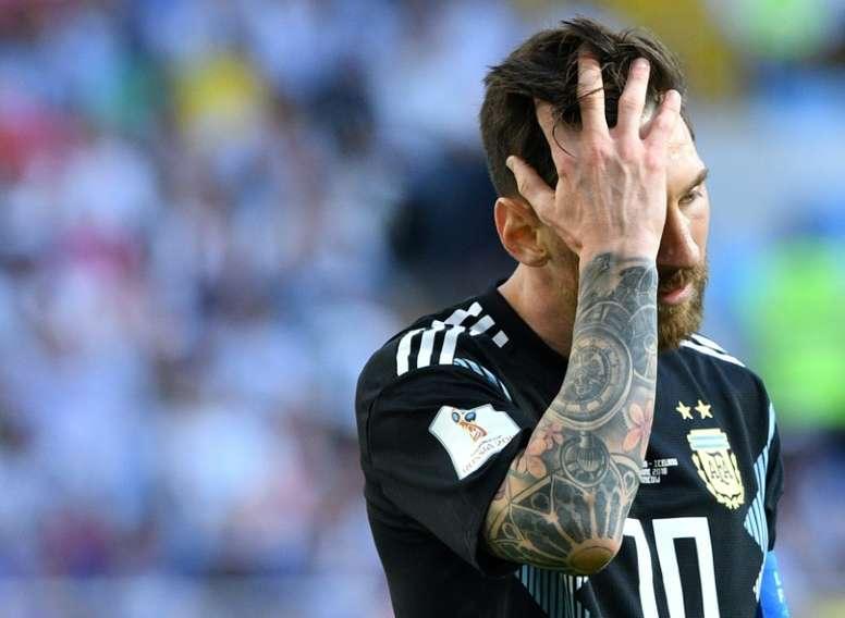 Messi y el peor momento con Argentina. AFP