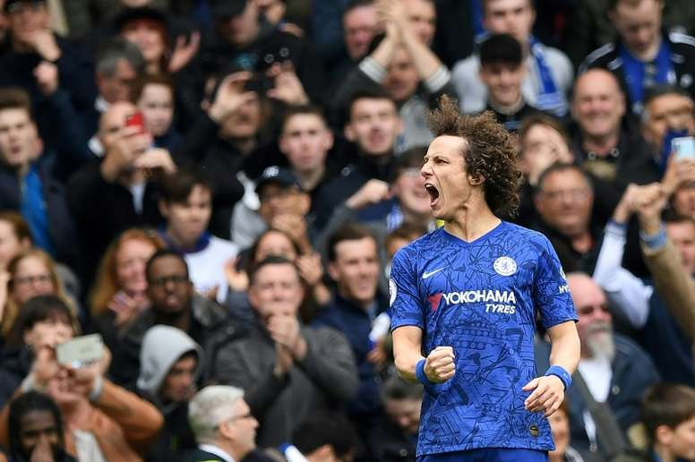 David Luiz has signed a new contract at Chelsea. AFP