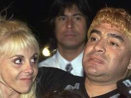 Maradona casi nos deja en el año 2000. AFP