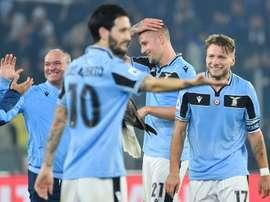Lazio won again. AFP