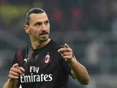 Ibra scored for Milan. AFP
