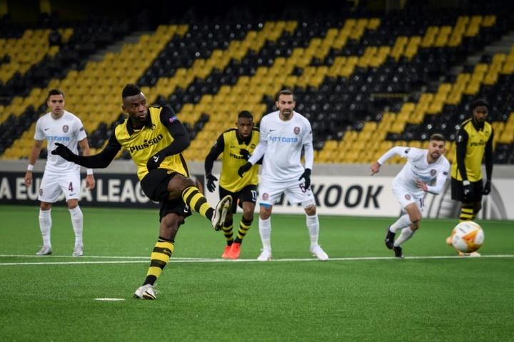 Jean-Pierre Nsame, artilheiro na Suíça, fez três gols para o Young Boys na conquista do título. AFP