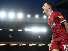 El Liverpool dio buena cuenta del recién ascendido Brighton. AFP