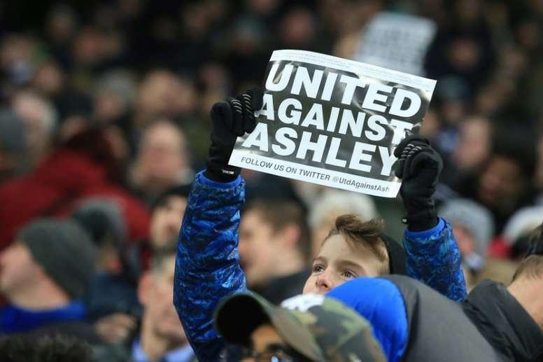 Newcastle está a ponto de ser comprado. AFP