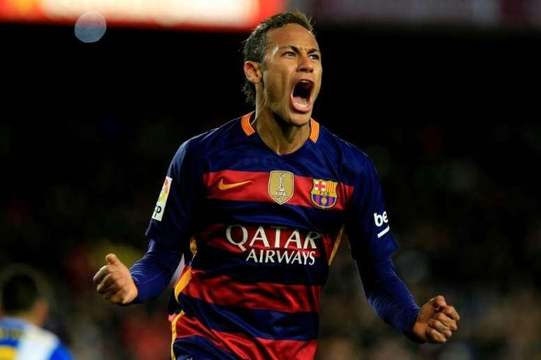Neymar ne pense qu'au Barça. AFP