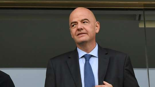 FIFA's President Infantino says that football can be part of a US-led economic plan. AFP