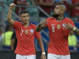 Sanchez sends Chile into Copa America quarter-finals. AFP