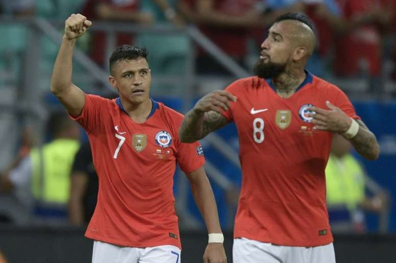 Sanchez sends Chile into Copa America quarter-finals. AFP
