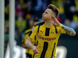 O Dortmund bateu o Leipzig por 4-1. AFP
