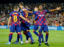 Um Barcelona renovado para enfrentar a Inter. AFP