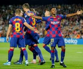 Ansu Fati et Carles Pérez ont gagné de l'importance. AFP