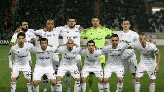 El Qarabag se asienta en el liderato tras vencer al Inter Baku. AFP