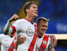 Vestergaard got Southampton a draw at the death at Chelsea. AFP
