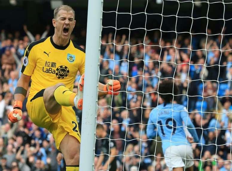 Joe Hart, dans les petits papiers de Stoke City. AFP