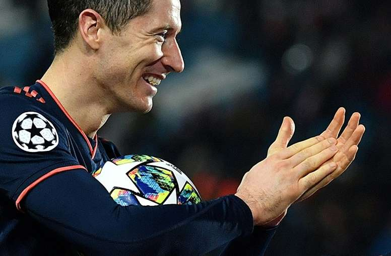 Robert Lewandowski scored four goals in a UCL game for the second-time in his career. AFP