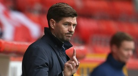 Gerrard wants football to be free to air during the coronavirus pandemic. AFP