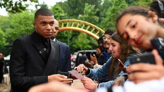 Kylian Mbappé seems desperate to leave PSG. AFP