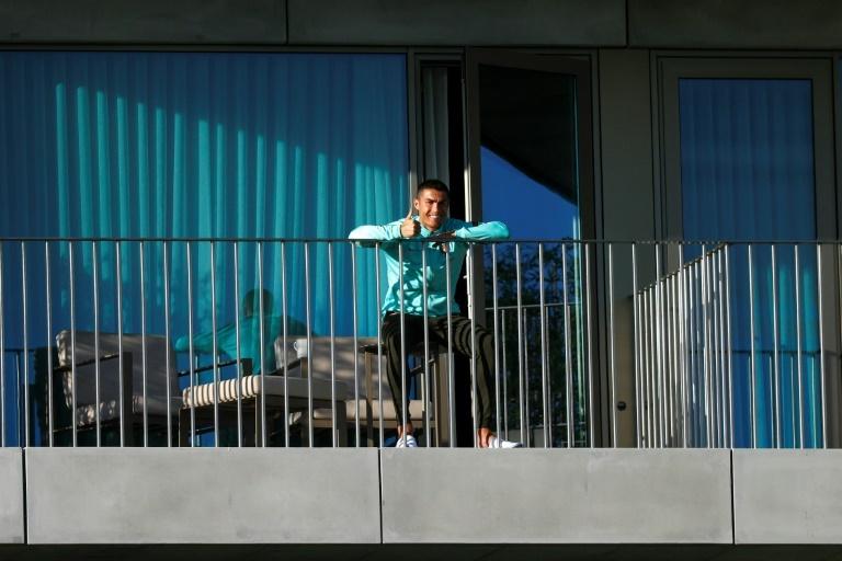 Cristiano Ronaldo em confinamento