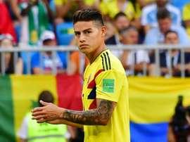 A Colômbia venceu o Japão na estreia de Queiroz. AFP