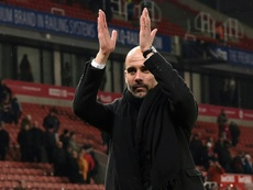 Guardiola plays down hopes of clinching title in derby