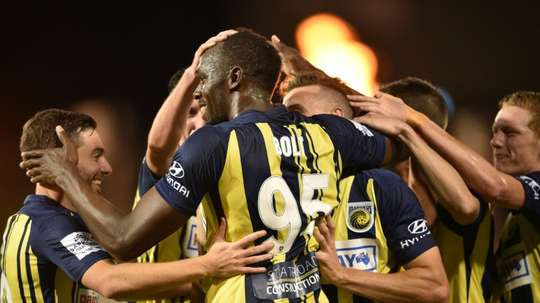 Bolt impressed on his debut for the team. AFP