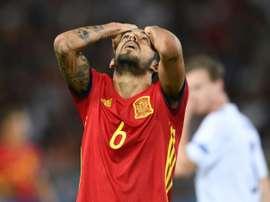 Ceballos lamentó la derrota del equipo en tierras balcánicas. AFP
