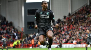 Wijnaldum's goal put Liverpool well clear at the top of the Premier League. AFP