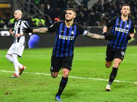 Icardi's goal was his 120th for Inter. AFP
