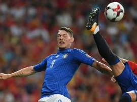 Belotti has caught the eye of half of Europe in recent times. AFP