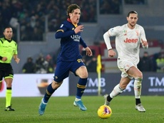 Roma's Zaniolo returns after four-month injury layoff. AFP