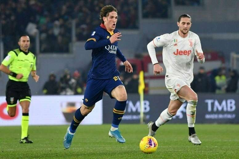 Zaniolo is in the matchday squad. AFP