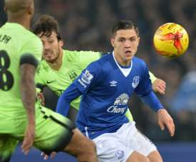 Besic joined Everton in 2014. AFP