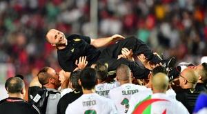 Belmadi n'est pas surpris par Slimani. AFP