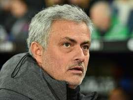 A Mou no le gustó el partido que hizo su equipo ante el Brighton. AFP