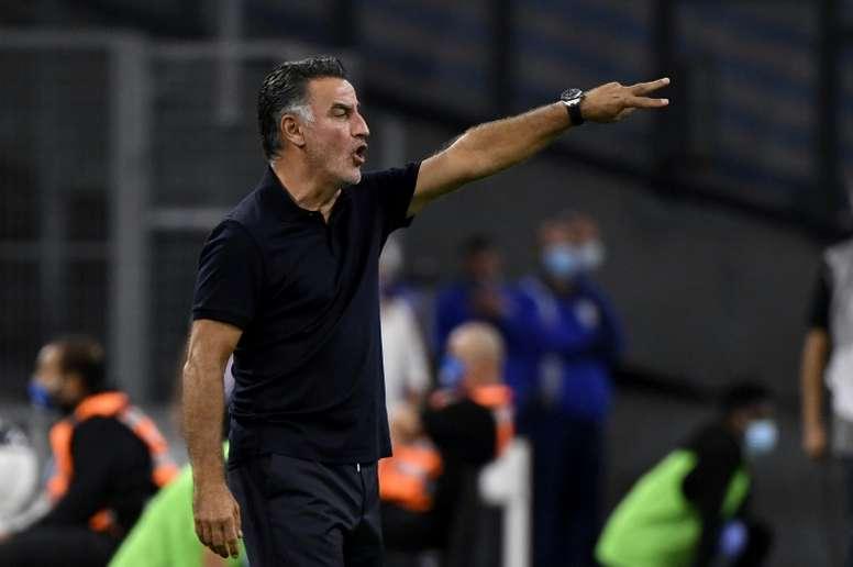 Galtier satisfait du match nul contre le Celtic. AFP