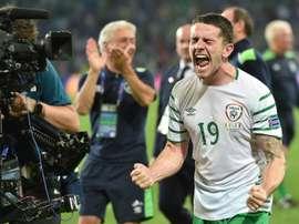 Robbie Brady, héroe ante Italia. AFP