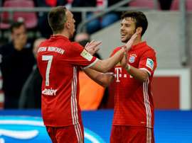 O Bayern bateu o Darmstadt por 1.0. AFP