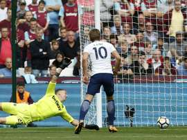 Kan slots home for Tottenham's second. AFP